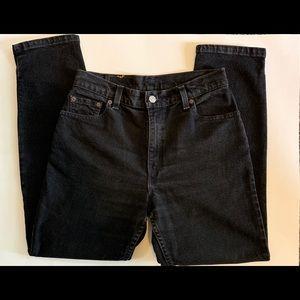 VINTAGE LEVI'S 550//black high rise mom jeans 6P